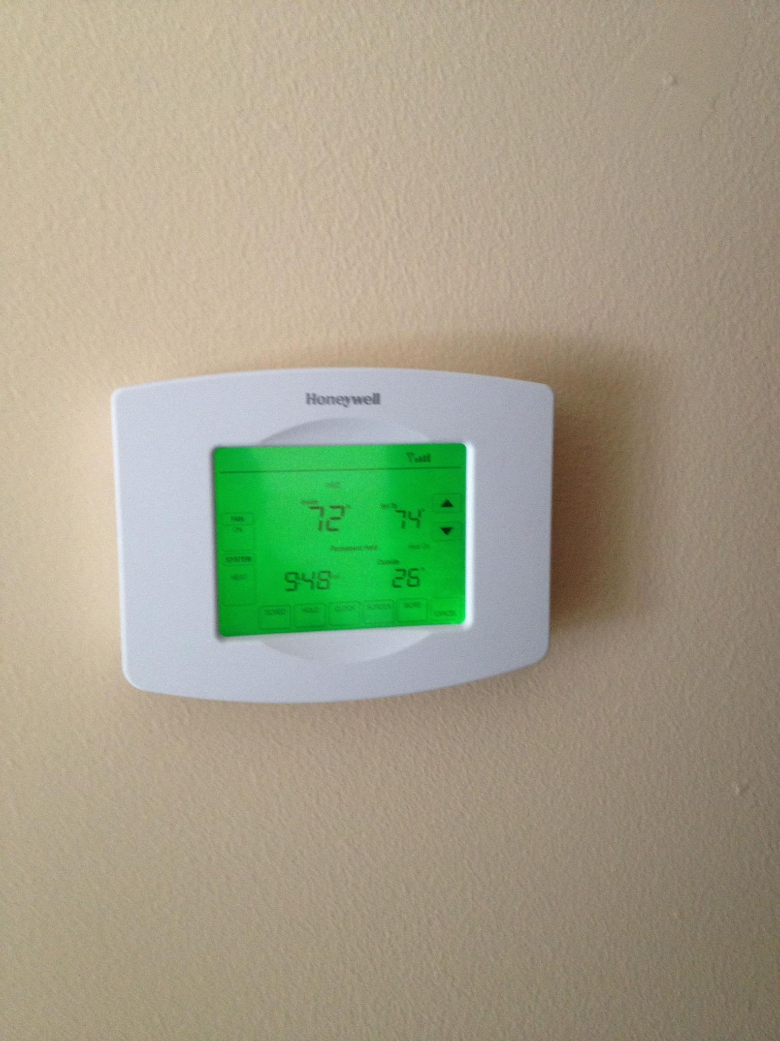 New Wi-Fi Thermostat Installation